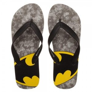 d8f8ae4566fe Small - Batman Flip Flops Shoes Unisex DC Comics